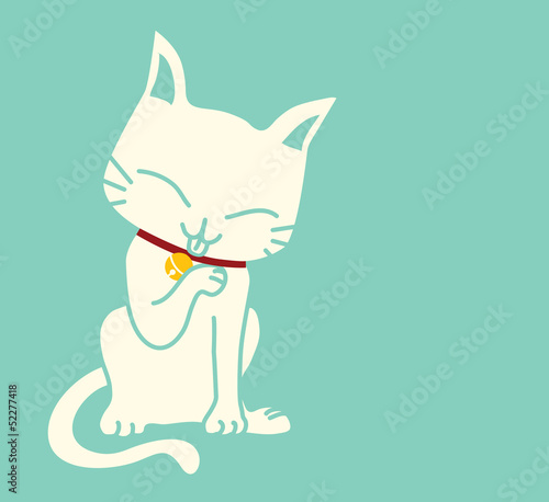 Cute Cat - Vector File EPS10