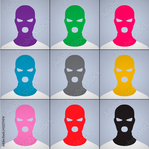 Avatars in a cap-mask, vector Eps10 illustration.