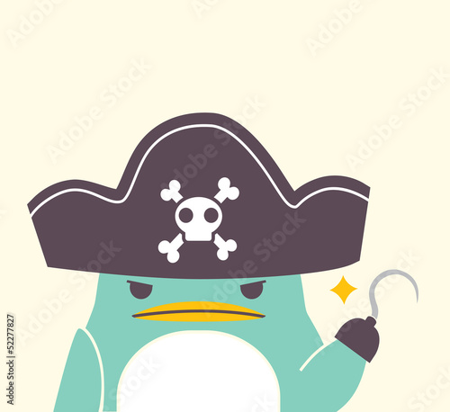 Pirate Penguin - Vector File EPS10
