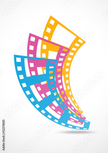film strip logo abstract background