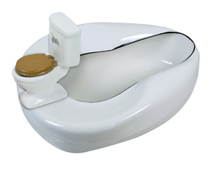 Porcelain Toilet and Enameled Bed Pan