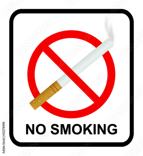 no smoking sign with cigarette