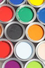 Farbpalette von oben