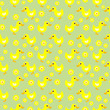 Seamless duck and flowers  pattern
