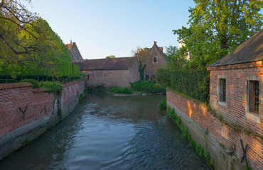 River through the Grand Beguinage of Leuven