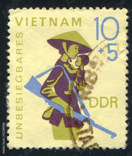 Armed Mother and Child from Vietnam