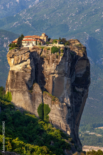 Varlaam monastery at Meteora in Trikala region in summer, Greece