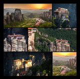 Roussanou Monastery at Meteora Monasteries in Trikala region, Co