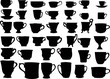 forty isolated cups collection