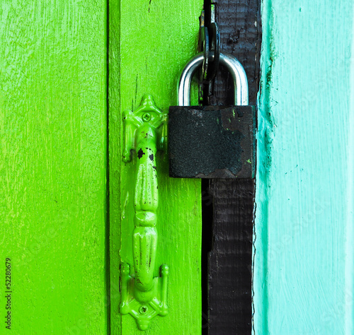 master key on color door