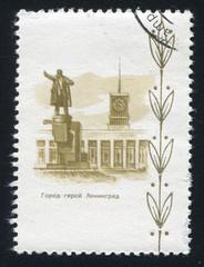 Monument to Lenin in Leningrad