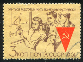 Workers Studying Mathematics