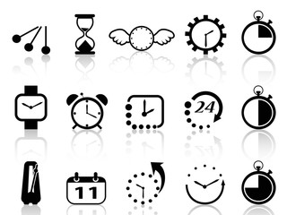 time concept icons set