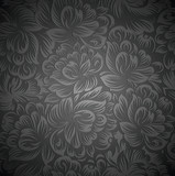 Royal floral wallpaper - 52281273