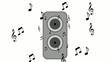 Musik aus Lautsprecherbox