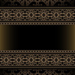 Vintage gold background with seamless borders