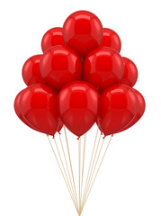 Red ballon for party, birthday