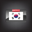 Glass button of the flag of South Korea