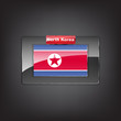 Glass button of the flag of North Korea