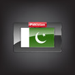 Glass button of the flag of Pakistan