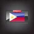 Glass button with the flag of Philippines