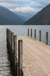 jetty at lake Rotoiti in Nelson Lakes National Park