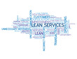 """LEAN SERVICES"" Tag Cloud (process quality management strategy)"