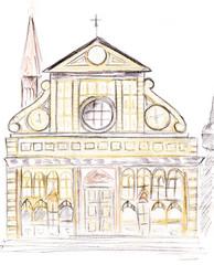 facade of Santa Maria Novella in Florence