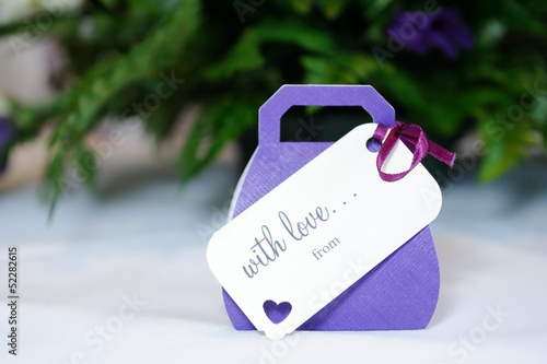 Wedding favours purple