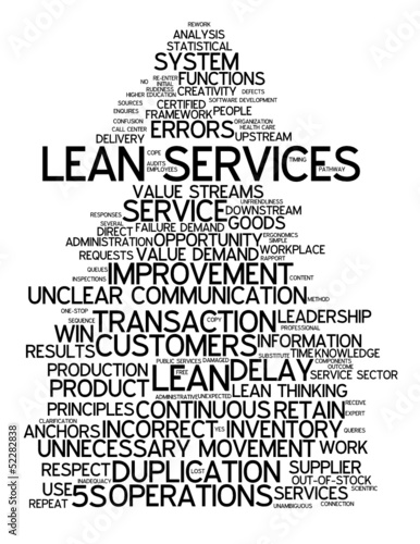 """LEAN SERVICES"" Tag Cloud (strategy process quality management)"