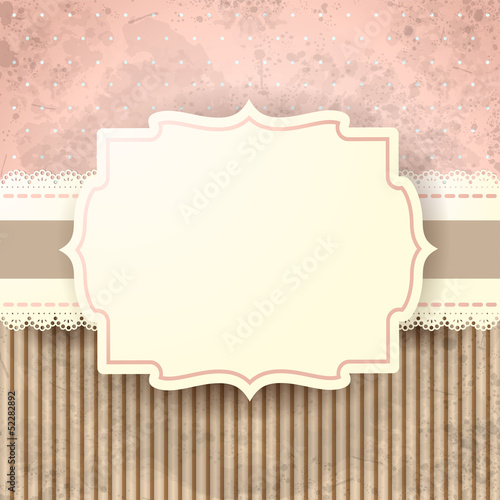 Grunge background with label