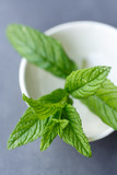 Mint leaves in bowl