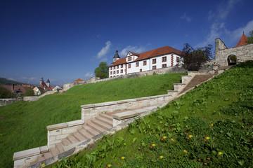Terrassen des Schloss Wilhelmsburg in Schmalkalden, Thüringen