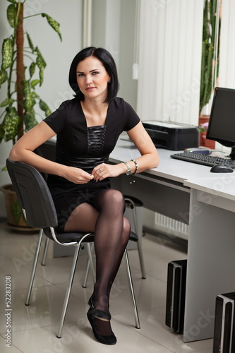 Young female office manager