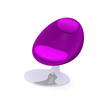 Modern luxury chair in purple