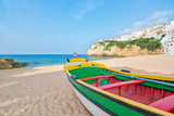 Magnificent beach on the coast of Portugal at Villa Carvoeiro. F
