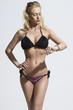 woman in bikini with watch