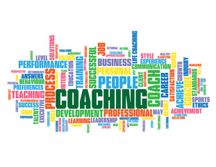 COACHING Tag Cloud (training  talent personal development goal)