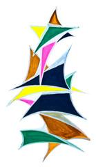 geometric triangular objects drawn