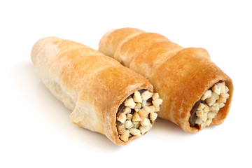 Cream tubules with nuts