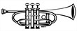 vector illustration tuba cornet on white background