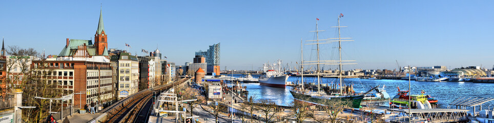 Hamburger Hafen Panorama