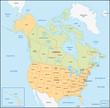 USA Canada physical map