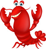 Cute lobster cartoon