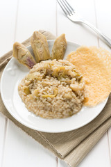 Risotto with artichokes