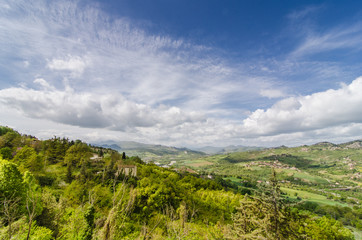 Hill landscape in Italy