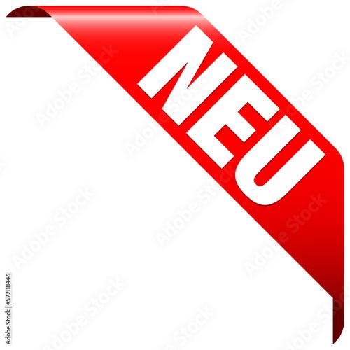 """Banner """"Neu"""" rot"""