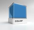 Blue color block