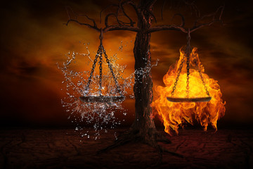 Balance between fire and water