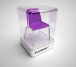 Design purple chair showcase